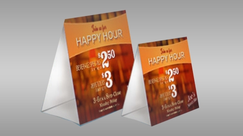 4 x 4 - Table Tents